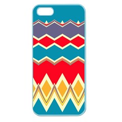 Chevrons And Rhombus			apple Seamless Iphone 5 Case (color) by LalyLauraFLM