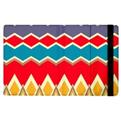 Chevrons And Rhombus			apple Ipad 2 Flip Case by LalyLauraFLM
