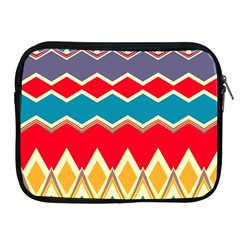 Chevrons And Rhombus			apple Ipad 2/3/4 Zipper Case by LalyLauraFLM