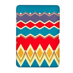 Chevrons And Rhombus			samsung Galaxy Tab 2 (10 1 ) P5100 Hardshell Case by LalyLauraFLM