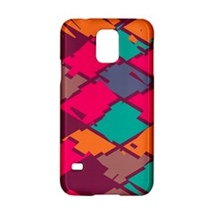 Pieces In Retro Colors			samsung Galaxy S5 Hardshell Case by LalyLauraFLM