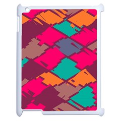 Pieces In Retro Colors			apple Ipad 2 Case (white) by LalyLauraFLM