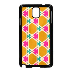 Connected Shapes Pattern			samsung Galaxy Note 3 Neo Hardshell Case (black) by LalyLauraFLM