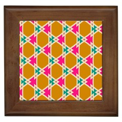 Connected Shapes Pattern			framed Tile by LalyLauraFLM