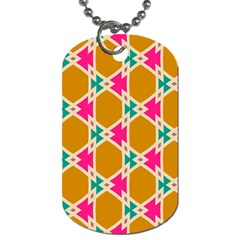 Connected Shapes Pattern			dog Tag (one Side) by LalyLauraFLM