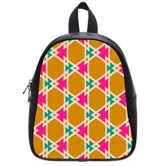 Connected Shapes Pattern			school Bag (small) by LalyLauraFLM
