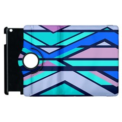 Angles And Stripes			apple Ipad 2 Flip 360 Case by LalyLauraFLM