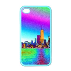 Chicago Colored Foil Effects Apple Iphone 4 Case (color) by canvasngiftshop
