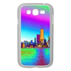 Chicago Colored Foil Effects Samsung Galaxy Grand Duos I9082 Case (white) by canvasngiftshop