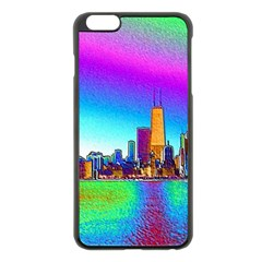 Chicago Colored Foil Effects Apple Iphone 6 Plus/6s Plus Black Enamel Case by canvasngiftshop