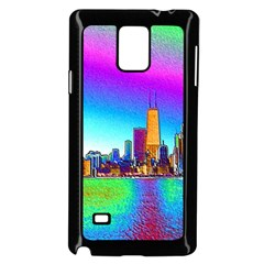 Chicago Colored Foil Effects Samsung Galaxy Note 4 Case (black) by canvasngiftshop