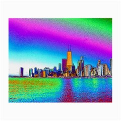 Chicago Colored Foil Effects Small Glasses Cloth (2-side) by canvasngiftshop