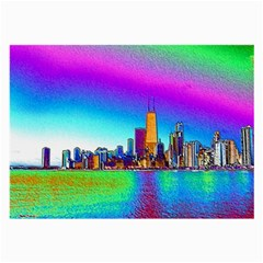 Chicago Colored Foil Effects Large Glasses Cloth (2 Side) by canvasngiftshop