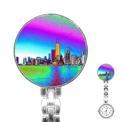 Chicago Colored Foil Effects Stainless Steel Nurses Watches