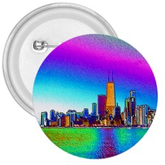 Chicago Colored Foil Effects 3  Buttons by canvasngiftshop