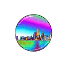 Chicago Colored Foil Effects Hat Clip Ball Marker by canvasngiftshop