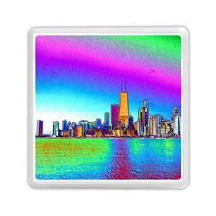 Chicago Colored Foil Effects Memory Card Reader (square)  by canvasngiftshop