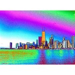 Chicago Colored Foil Effects Ribbon 3D Greeting Card (7x5)  Back