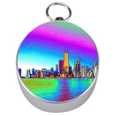Chicago Colored Foil Effects Silver Compasses by canvasngiftshop