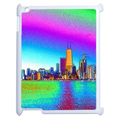 Chicago Colored Foil Effects Apple Ipad 2 Case (white) by canvasngiftshop