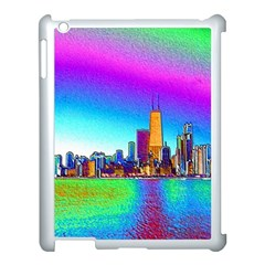 Chicago Colored Foil Effects Apple Ipad 3/4 Case (white) by canvasngiftshop