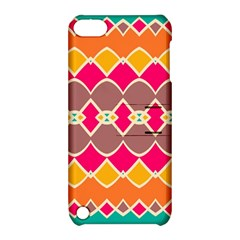 Symmetric Shapes In Retro Colors			apple Ipod Touch 5 Hardshell Case With Stand by LalyLauraFLM