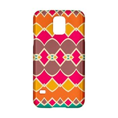 Symmetric Shapes In Retro Colors			samsung Galaxy S5 Hardshell Case by LalyLauraFLM