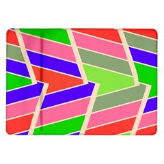 Symmetric Distorted Rectangles			samsung Galaxy Tab 10 1  P7500 Flip Case by LalyLauraFLM