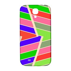 Symmetric Distorted Rectangles			samsung Galaxy S4 I9500/i9505 Hardshell Back Case by LalyLauraFLM