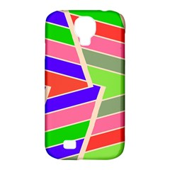 Symmetric Distorted Rectangles			samsung Galaxy S4 Classic Hardshell Case (pc+silicone) by LalyLauraFLM