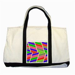 Symmetric Distorted Rectangles			two Tone Tote Bag by LalyLauraFLM