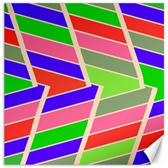Symmetric Distorted Rectangles			canvas 12  X 12  by LalyLauraFLM