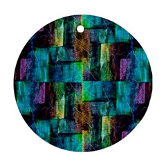 Abstract Square Wall Ornament (round)  by Costasonlineshop