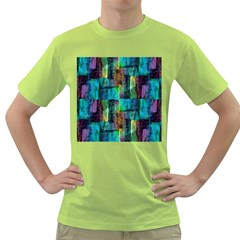 Abstract Square Wall Green T Shirt by Costasonlineshop
