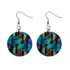 Abstract Square Wall Mini Button Earrings by Costasonlineshop