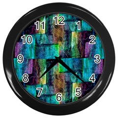 Abstract Square Wall Wall Clocks (black) by Costasonlineshop