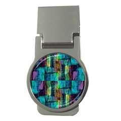 Abstract Square Wall Money Clips (round)  by Costasonlineshop