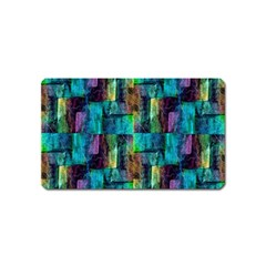 Abstract Square Wall Magnet (name Card) by Costasonlineshop