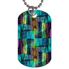 Abstract Square Wall Dog Tag (two Sides) by Costasonlineshop