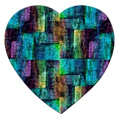 Abstract Square Wall Jigsaw Puzzle (heart) by Costasonlineshop