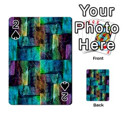 Abstract Square Wall Playing Cards 54 Designs  by Costasonlineshop
