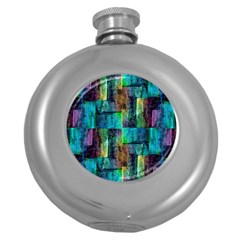 Abstract Square Wall Round Hip Flask (5 Oz) by Costasonlineshop