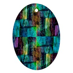 Abstract Square Wall Oval Ornament (two Sides) by Costasonlineshop