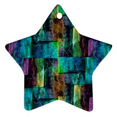 Abstract Square Wall Star Ornament (two Sides)  by Costasonlineshop