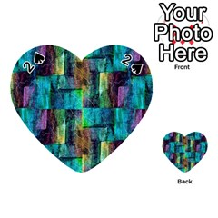 Abstract Square Wall Playing Cards 54 (heart)  by Costasonlineshop