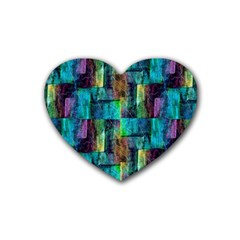 Abstract Square Wall Rubber Coaster (heart)  by Costasonlineshop