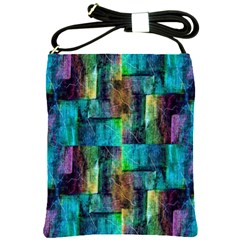 Abstract Square Wall Shoulder Sling Bags by Costasonlineshop