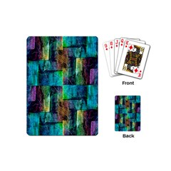 Abstract Square Wall Playing Cards (mini)  by Costasonlineshop