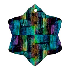 Abstract Square Wall Snowflake Ornament (2 Side) by Costasonlineshop