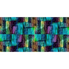 Abstract Square Wall You Are Invited 3d Greeting Card (8x4)  by Costasonlineshop